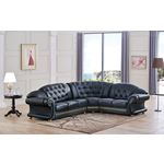 Apolo Black Leather Sectional