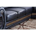 Apolo Black Sectional Detail