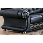 Apolo Black Sectional Detail 3