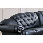 Apolo Black Sectional Detail 2