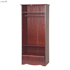 Flexible Wardrobe/Closet/Arm... With 1 Drawer, 1 Shelf,
