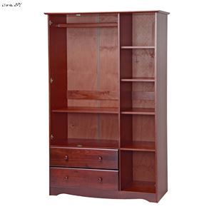 Grand Wardrobe/Closet/Arm... 2 Drawers, 4 Small Shelves,