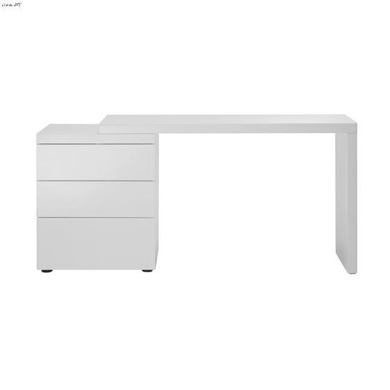 Nest High Gloss White Lacquer Office Desk 2
