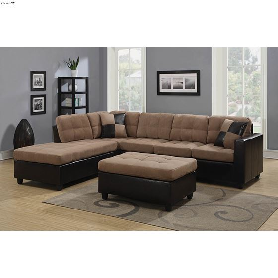The Mallory 505675 Reversible Two Tone Sectional